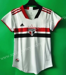 2021-2022 Sao Paulo Home White Thailand Women Soccer Jersey AAA-802