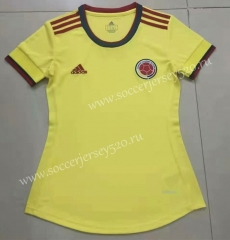 2021-2022 Colombia Home Yellow Female Thailand Soccer Jersey AAA