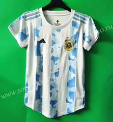 2021-2022 Argentina Home Blue&White Female Thailand Soccer Jersey AAA-802