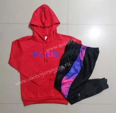 2021-2022 Jordan Paris Red Thailand Tracksuit With Hat-815