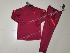 2021-2022 Liverpool Red Thailand Soccer Tracksuit Uniform-GDP