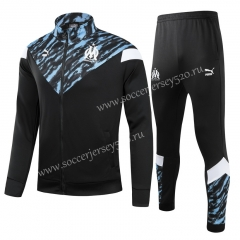 2021-2022 Olympique Marseille Black Thailand Soccer Jacket Uniform-GDP