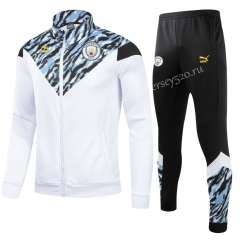 2021-2022 Manchester City White Thailand Soccer Jacket Uniform-GDP