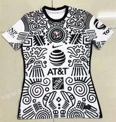2021-2022 Club America 2nd Away Black&White Thailand Women Soccer Jersey AAA-2027