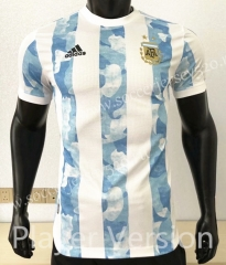 Player Version 2021-2022 Argentina Home Blue&White Thailand Soccer Jersey AAA-CS