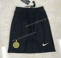 2021-2022 Inter Milan 3nd Away Black Thailand Soccer Shorts