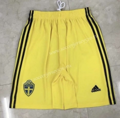 2021-2022 Sweden Away Yellow Thailand Soccer Shorts