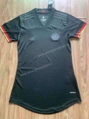 2021-2022 Germany Away Black Female Thailand Soccer Jersey AAA