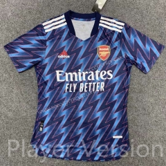 Player Version 2021-2022 Arsenal Blue Thailand Soccer Training Jersey AAA