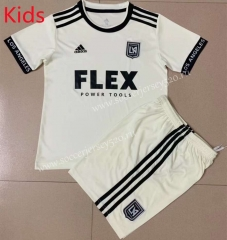2021-2022 Los Angeles FC Away White Kids/Youth Soccer Uniform-AY