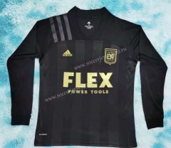 2021-2022 Los Angeles FC Home Black LS Thailand Soccer Jersey-HR
