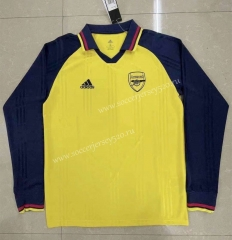 Retro Version Arsenal Yellow LS Thailand Soccer Jersey AAA-818