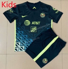 2021-2022 Club America Away Royal Blue Kids/Youth Soccer Uniform-AY