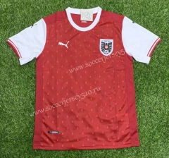 2021-2022 Austria Home Red Thailand Soccer Jersey AAA-407