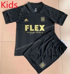 2021-2022 Los Angeles FC Home Black Kids/Youth Soccer Uniform-AY