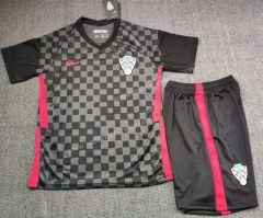 2020-2021 Croatia Away Dark Gray Soccer Uniform