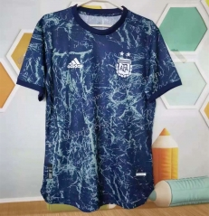 Player Version 2021-2022 Spain Royal Blue Thailand Soccer Training Jersey