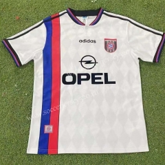 Retro Version 95-96 Bayern München Away White Thailand Soccer Jersey AAA-503