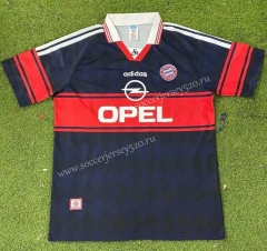 Retro Version 97-99 Bayern München Home Royal Blue Thailand Soccer Jersey AAA-503