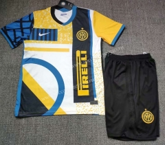 2021-2022 Inter Milan 3rd Away Yellow&White Soccer Uniform-718