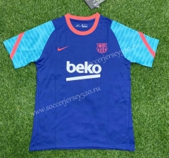 2021-2022 Barcelona Blue Thailand Training Soccer Jersey-407