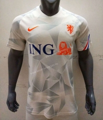 2021-2022 Netherlands White Thailand Soccer Training Jersey-416