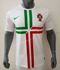 Retro Version 2012 Portugal Away White Thailand Soccer Jersey AAA-416