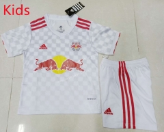 2021-2022 New York Red Bulls Home White Youth/Kids Soccer Uniform-507