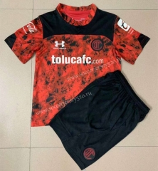 2021-2022 Deportivo Toluca FC Home Red Soccer Uniform -AY