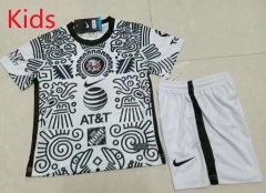2021-2022 Club America 2nd Away White&Black Kids/Youth Soccer Uniform-507