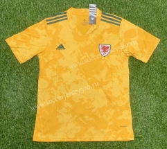 2021-2022 Wales Away Yellow Thailand Soccer Jersey AAA-407