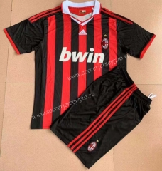Retro Edition 09-10 AC Milan Home Red&Black Soccer Uniform-AY