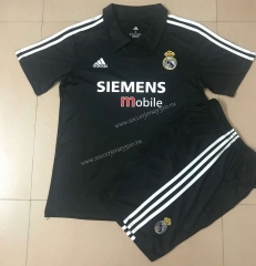 Reteo Version 02-03 Real Madrid Away Black Soccer Uniform-AY