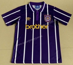 Retro Version 1993 Manchester City Away Purple Thailand Soccer Jersey AAA-AY