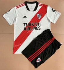 2021-2022 CA River Plate Home White Soccer Uniform-AY