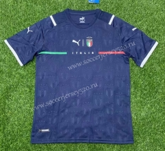 2021-2022 Italy 2nd Away Royal Blue Thailand Soccer Jersey AAA