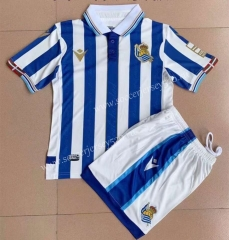 2021-2022 Real Sociedad Home Blue&White Soccer Uniform-AY